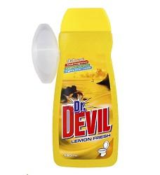 Dr.DEVIL WC gel náhradní 400ml/16 + košíček LEMON 8267