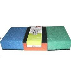 Houba  na nádobí JUMBO 3ks - molitan+textilní abrasivum SLON
