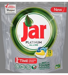 JAR PLATINUM All in 1 kapsle do myčky 72 kusů  lemon 1073 g/2