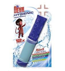 Dr.DEVIL WC POINT BLOCK CLEAN ACTIVE 5v1 gel do WC mísy 12 gel.náplní 75 ml/12