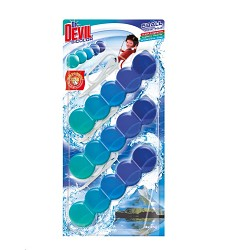 Dr.DEVIL BiCOLOR WC 5Ball závěs do WC 3kusy x 35g/12 POLAR AQUA