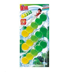 Dr.DEVIL BiCOLOR WC  5Ball závěs do WC 3kusy x 35g/12 NATUR FRESH