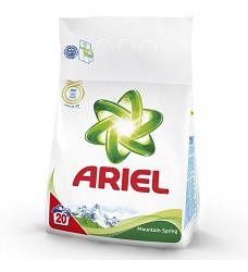 ARIEL prací prášek MOUTAIN SPRING  1,4kg = 20 pracích dávek