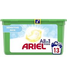 ARIEL gelové kapsle tříkomorové 14 kusů SENSITIVE