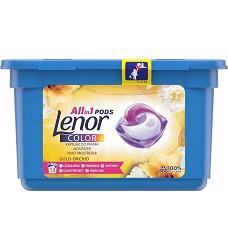 LENOR gelové kapsle tříkomorové 3v1 14 kusů vůně leknín