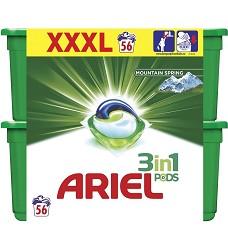 ARIEL gelové kapsle tříkomorové 56kusů  MOUNTAIN SPRING