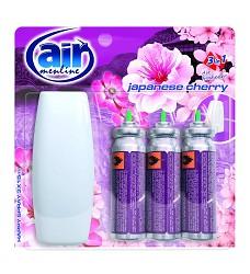 Osvěžovač vzduchu AIR MENLINE -strojek + 3 x15ml/10 náhr.JAPANESSE CHERRY