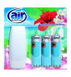 Osvěžovač vzduchu AIR MENLINE -strojek + 3 x15ml/10 náhr.TAHITI PARADISE