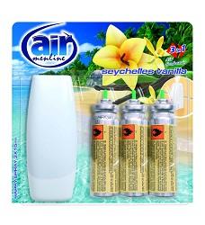 Osvěžovač vzduchu AIR MENLINE -strojek + 3 x15ml/10 náhr.SEYCHELES VANILLA