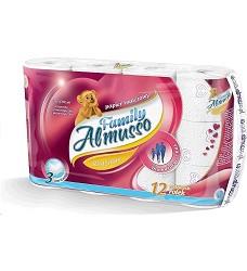 Toaletní papír ALMUSSO 3 vrstvý bílý