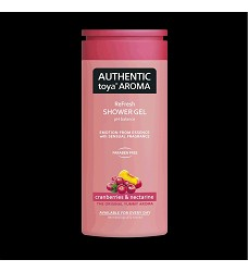 AUTHENTIC toya Aroma sprchový gel 400ml /12 cranberries & nectarine 6533