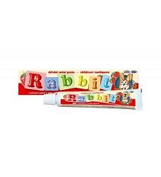 Zubní pasta dětská  RABBIT jahoda 45g + kartáček