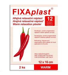 Náplast hřejivá relaxační Fixaplast 12x6cm 2kusy