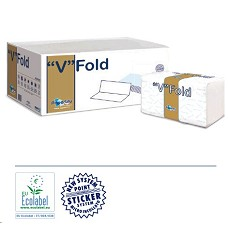 Ručníky papírové  ZZ bílé 2-vrstvy  3150ks Paper Blue Gold 100% celulóza 81925