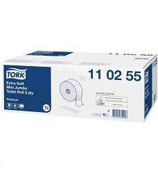 TORK 110255 premium toaletní papír  karton (12 rolí/ 600 útržků) T2