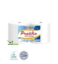 Průmyslová role PRATIKA - lepená 9202 bílá 2ks v balení / cena za 2 role/