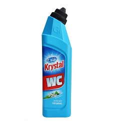 KRYSTAL WC kyselý čistič 750 ml/17 modrý na keramiku